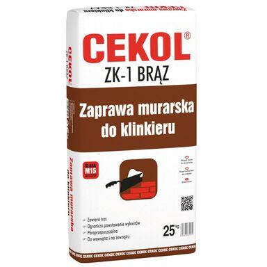 Zaprawa murarska ZK-1 Brązowa 25 kg CEKOL