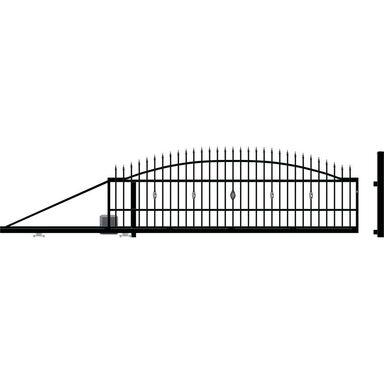Brama przesuwna lewa BOLTON 400cm POLARGOS