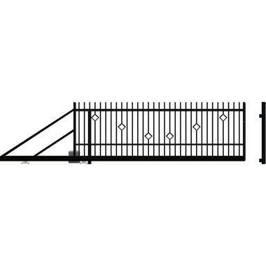 Brama przesuwna lewa z automatem RITA II 400cm POLARGOS
