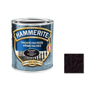 Farba antykorozyjna PROSTO NA RDZĘ 0.25 l czarny Młotkowy HAMMERITE