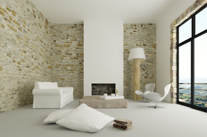 ciana dekorowana kamieniem oraz p ytkami porady leroy merlin. Black Bedroom Furniture Sets. Home Design Ideas