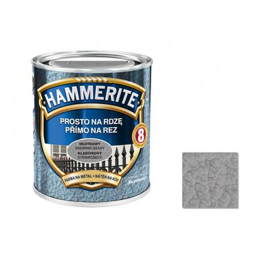 Farba antykorozyjna PROSTO NA RDZĘ 0.25 l srebrno szary Młotkowy HAMMERITE