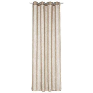 Zasłona FOGGIA taupe beżowa 140 x 260 cm na przelotkach INSPIRE