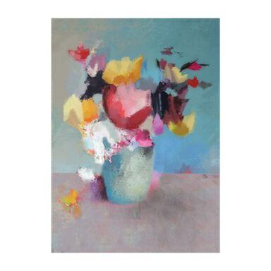 Kanwa Kwiaty w wazonie 50 x 70 cm