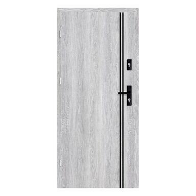 Drzwi wejściowe otwierane do wewnątrz HERMES Dąb Srebrny 90 Lewe NAWADOOR