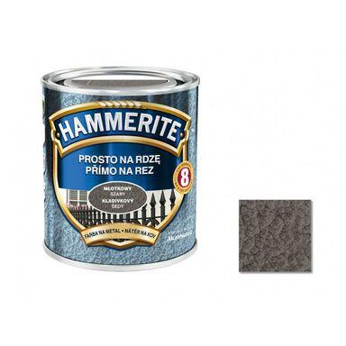 Farba antykorozyjna PROSTO NA RDZĘ 0.25 l szary Młotkowy HAMMERITE