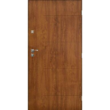Drzwi zewnętrzne stalowe BARCELONA Złoty dąb 80 Prawe SEDRO
