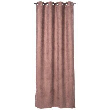 Zasłona gotowa SUEDE  kolor Różowy 140 x 260 cm Kółka 180 g/m²  INSPIRE