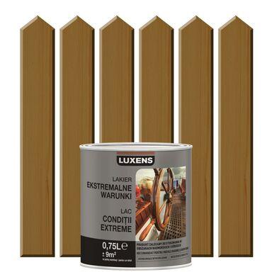 Lakier zewnętrzny do drewna EKSTREMALNA ODPORNOŚĆ 0.75 l Dąb ciemny LUXENS