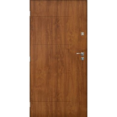Drzwi wejściowe BARCELONA Złoty dąb 80 Lewe SEDRO