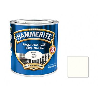 Farba antykorozyjna PROSTO NA RDZĘ 2.5 l Biały Połysk HAMMERITE