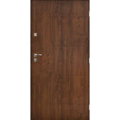 Drzwi zewnętrzne stalowe BARCELONA Orzech 90 Prawe SEDRO
