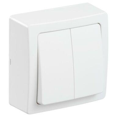 Włącznik podwójny OPUS  biały