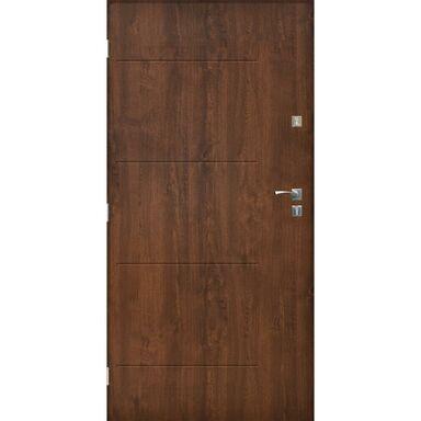 Drzwi zewnętrzne stalowe BARCELONA Orzech 90 Lewe SEDRO