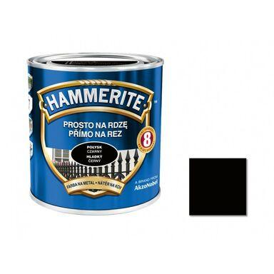 Farba antykorozyjna PROSTO NA RDZĘ 0.25 l Czarny Połysk HAMMERITE