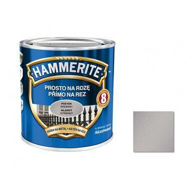 Farba antykorozyjna PROSTO NA RDZĘ 0.25 l Srebrny Połysk HAMMERITE