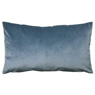 Poduszka welurowa DUBBO niebieska 50 x 30 cm INSPIRE