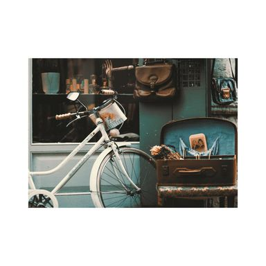 Obraz na pilśni Biały Rower 100 x 70 cm
