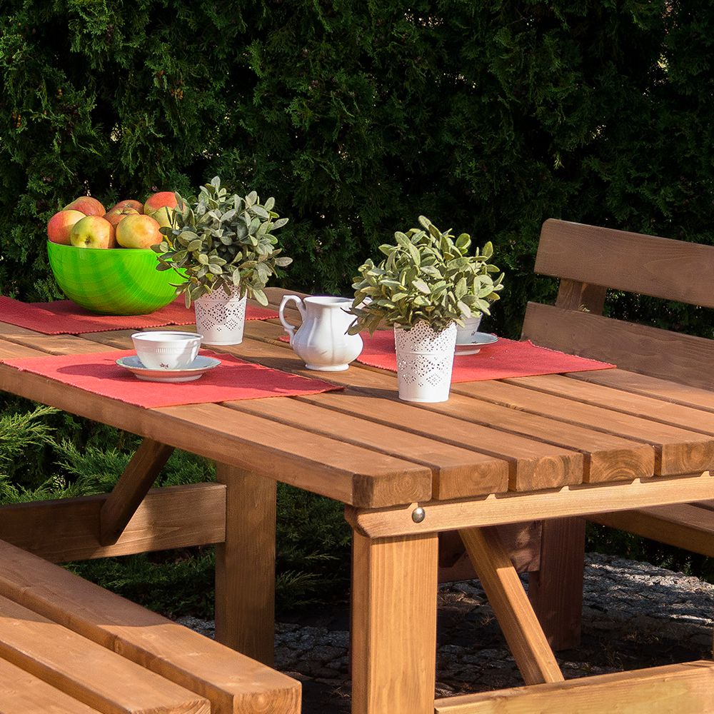 Serie mebli ogrodowych drewniane meble ogrodowe for Fartools rex 120 leroy merlin