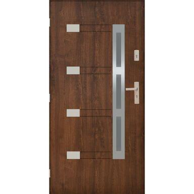 Drzwi zewnętrzne stalowe  NIMES Orzech 90 Lewe PANTOR