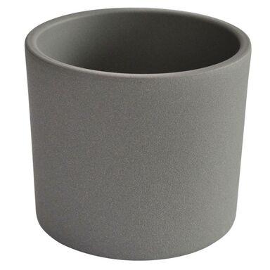 Osłonka ceramiczna 23 cm szara WALEC