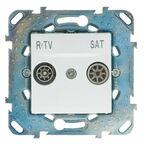 Gniazdo PRZELOTOWE RTV/SAT UNICA Biały SCHNEIDER ELECTRIC