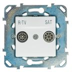 Gniazdo RTV PRZELOTOWE UNICA SAT  Biały  SCHNEIDER ELECTRIC