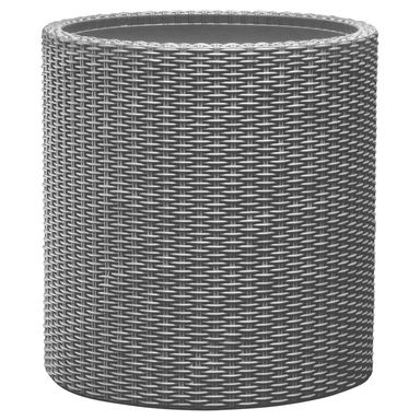 Doniczka Plastikowa 36 Cm Szara Cylinder M Keter
