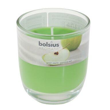 Świeca zapachowa w szkle AROMATIC zielone jabłuszko BOLSIUS