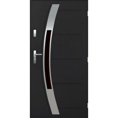 Drzwi zewnętrzne stalowe STRASBURG Antracyt 90 Prawe PANTOR