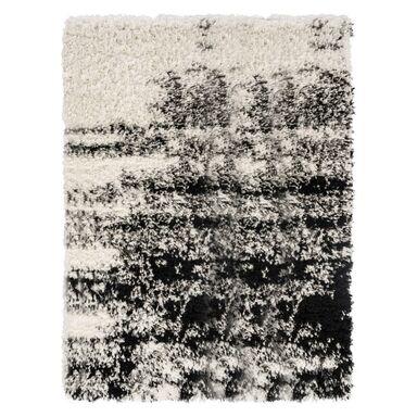 Dywan NEW TOUCH czarny i biały 117 x 170 cm wys. runa 40 mm IZRAEL