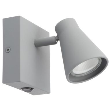 Reflektork NAPOLI z włącznikiem szary GU10 INSPIRE