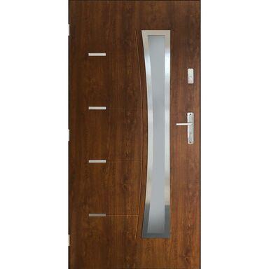 Drzwi wejściowe LYON Orzech 90 Lewe PANTOR