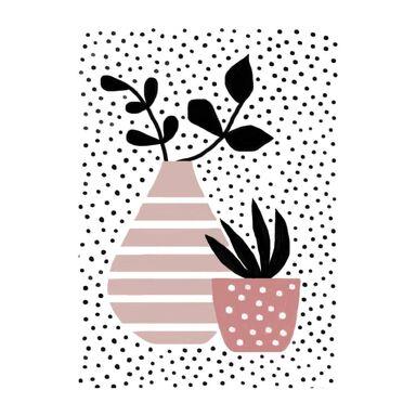 Obraz na pilśni Wazon paski i kropki 50 x 70 cm