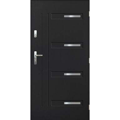 Drzwi zewnętrzne stalowe LENS Antracyt 80 Prawe PANTOR