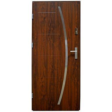 Drzwi zewnętrzne stalowe LINOX Orzech 90 Lewe