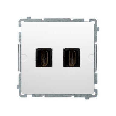 Gniazdo podwójne HDMI BASIC MODUŁ  biały  KONTAKT SIMON