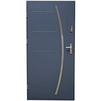 Drzwi zewnętrzne stalowe LINOX Antracyt 80 Lewe