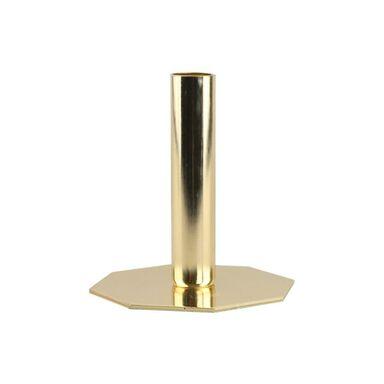 Świecznik metalowy na świecę stołową wys. 13 cm miedziany