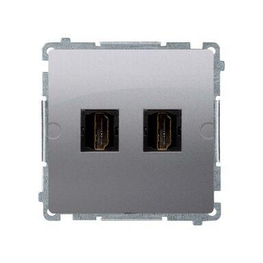 Gniazdo podwójne HDMI BASIC MODUŁ  stal inox  KONTAKT SIMON
