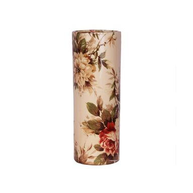 Wazon ceramiczny w kwiaty wys. 31 cm