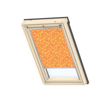 Roleta zaciemniająca DKL MK06 4568S Pomarańczowa ze wzorem 78 x 118 cm VELUX