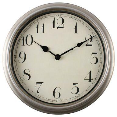 Zegar ścienny Raffles śr. 34.5 cm srebrny