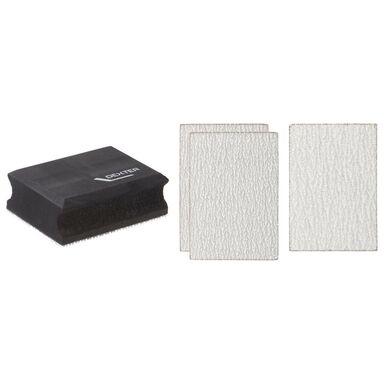 Klocek do szlifowania z papierem ściernym 100 x 70 mm DEXTER
