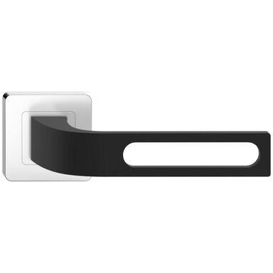Klamka drzwiowa na rozecie FORTUNA Czarna