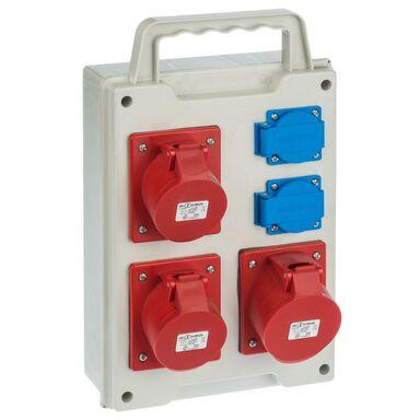 Rozdzielnia siłowa RS 6215 - 00 / 2 X 2P + Z 3 X 3P + N + Z 16 / 32A ELEKTRO - PLAST