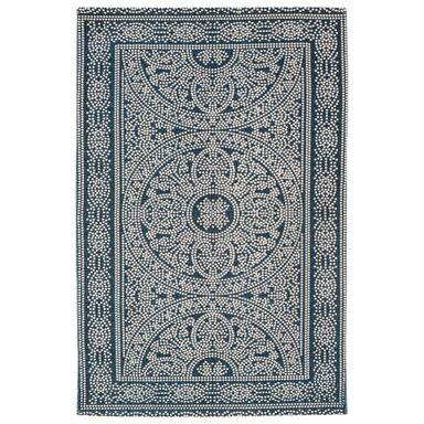 Dywan bawełniany ETHNIC niebieski 60 x 90 cm INSPIRE