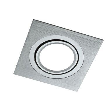 Oprawa stropowa oczko SOUTH OPAL srebrna kwadratowa GU10 POLUX
