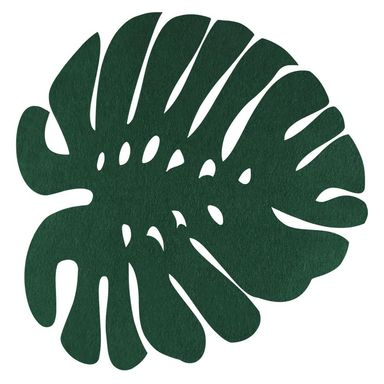 Podkładka filcowa na stół LIŚĆ 38 x 38 cm zielona