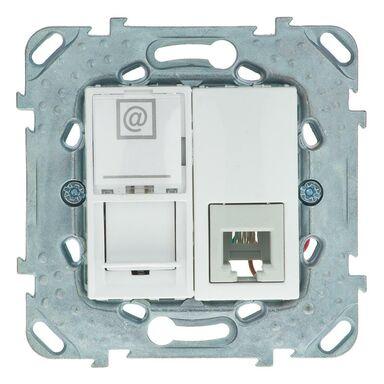 Gniazdo telefoniczno-komputerowe UNICA  biały  SCHNEIDER ELECTRIC